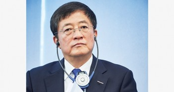 Chinese Ren Jianxin, Chairman of ChemChina attends a press conference of the Syngenta's annual results presentation at the company's headquarters in Basel on February 3, 2016. State-owned China National Chemical Corp on February 3, 2016 offered $43 billion in an agreed takeover for Swiss pesticide and seed giant Syngenta, in what would be by far the biggest-ever overseas acquisition by a Chinese firm. / AFP PHOTO / MICHAEL BUHOLZER